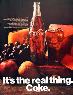 شعار تبلیغاتی کوکاکولا