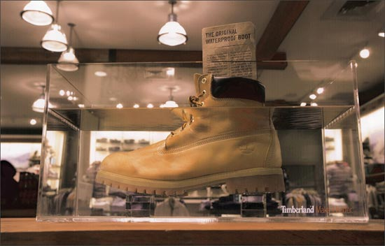 تبلیغ کفش تیمبرلند
